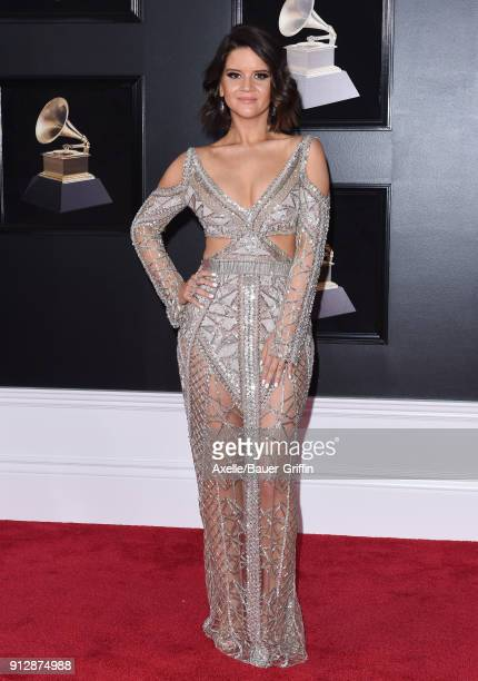 Singer Maren Morris attends the 60th Annual GRAMMY Awards at Madison Square Garden on January 28 2018 in New York City