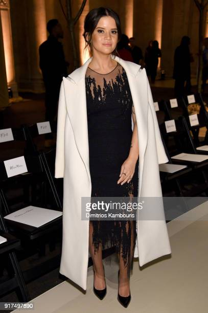 Singer Maren Morris attends the Oscar De La Renta fashion show during New York Fashion Week The Shows at The Cunard Building on February 12 2018 in...