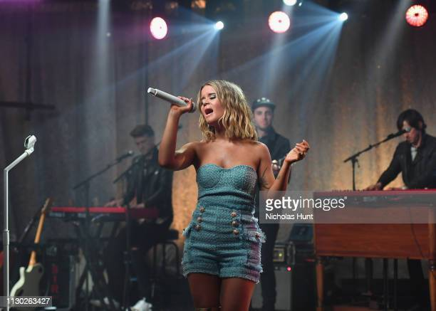 Singer Maren Morris performs at her iHeartRadio Album Release Party at the iHeartRadio Theater on March 11 2019 in New York City