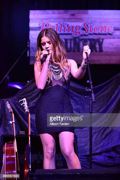 Singer Maren Morris performs for Rolling Stone Country Live at City Winery Nashville on November 3 2015 in Nashville Tennessee