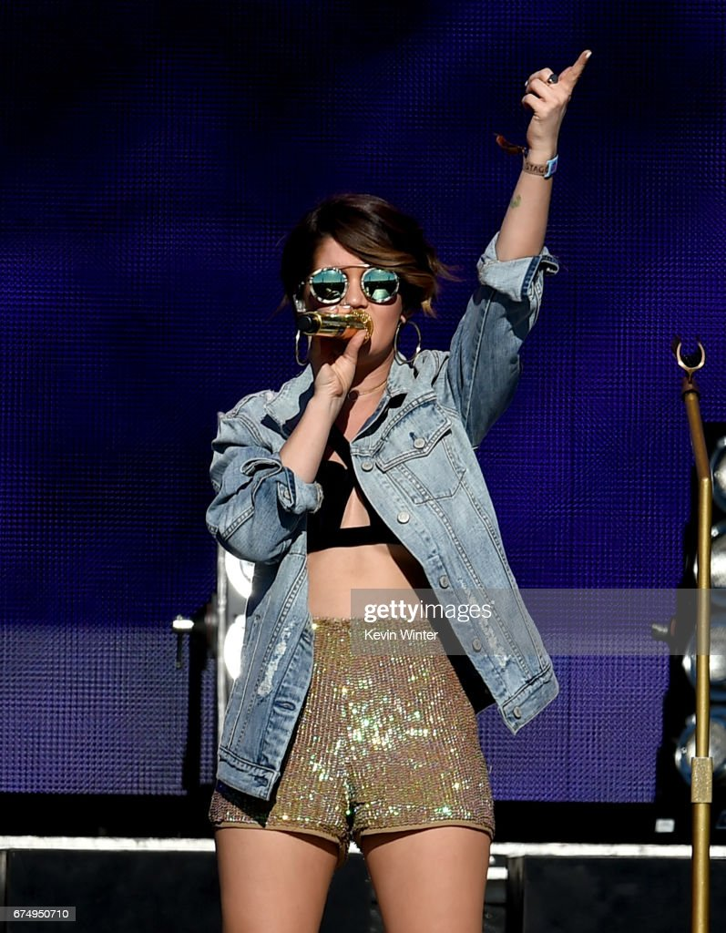 Singer Maren Morris performs on the Toyota Mane Stage during day 2 of 2017 Stagecoach California's Country Music Festival at the Empire Polo Club on April 29, 2017 in Indio, California.