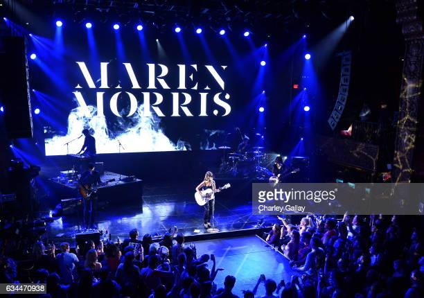 Singer Maren Morris performs onstage during the Spotify Best New Artist Nominees celebration at Belasco Theatre on 9 2017 in Los Angeles California