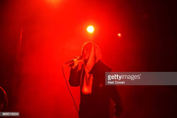 Singer Margaret Osborn better known professionally as Alice Glass performs at the Growlers 6 festival at the LA Waterfront on October 29 2017 in San...