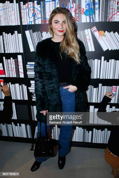 Singer Margaux Avril attends the Manifesto Sonia Rykiel 5Oth Birthday Party at the Flagship Store Boulevard Saint Germain des Pres on January 16 2018...