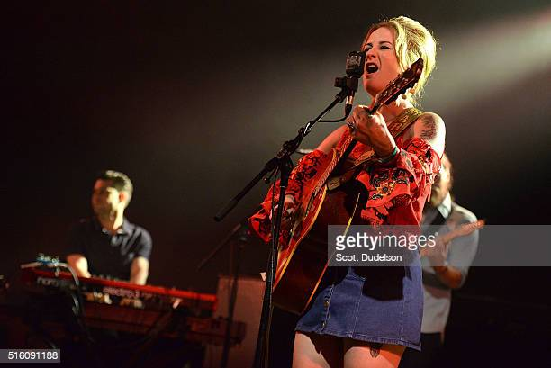 Singer Margo Price performs during the NPR official SXSW showcase on March 16 2016 in Austin Texas