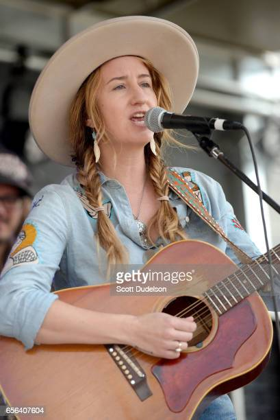 Singer Margo Price performs onstage during the Rachael Ray SXSW Feedback Party at Stubbs BBQ on March 18 2017 in Austin Texas