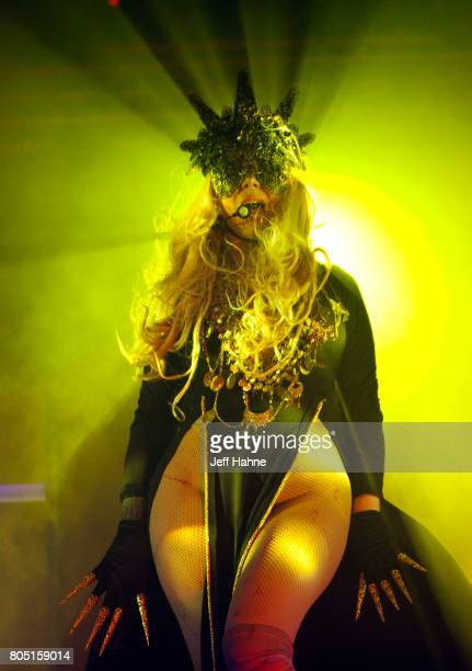 Singer Maria Brink of In This Moment performs at The Fillmore Charlotte on June 30 2017 in Charlotte North Carolina