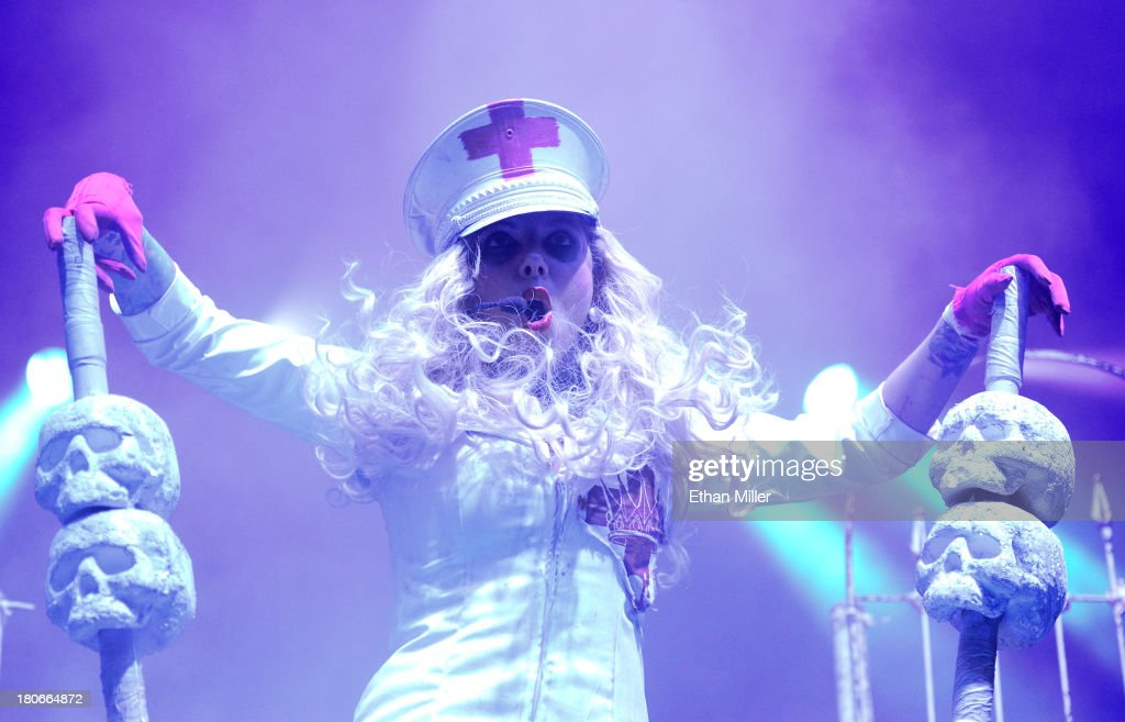 Singer Maria Brink of the band In This Moment performs during the Carnival of Madness tour at The Joint inside the Hard Rock Hotel & Casino on September 15, 2013 in Las Vegas, Nevada.