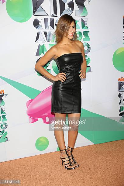 Singer Maria Leon of Playa Limbo arrives at Kids Choice Awards Mexico 2012 at Pepsi Center WTC on September 1 2012 in Mexico City Mexico
