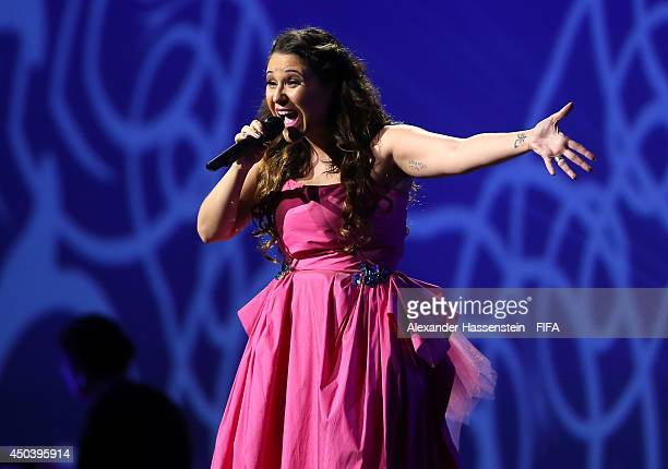 Singer Maria Rita performs during the Opening Ceremony of the 64th FIFA Congress at the Transamerica Expo Center on June 10 2014 in Sao Paulo Brazil