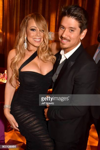Singer Mariah Carey and Brian Tanaka attend HBO's Official 2018 Golden Globe Awards After Party on January 7 2018 in Los Angeles California