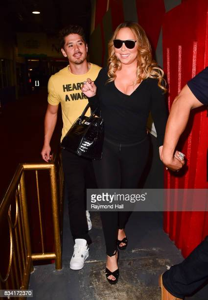 Singer Mariah Carey and Bryan Tanaka are seen out on August 17 2017 in New York City
