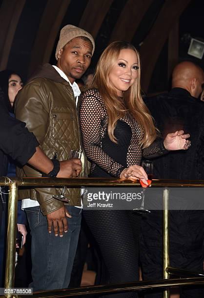 Singer Mariah Carey and DJ KaCHfraze attend Mishka B's Epic Bat Mitzvah at 1OAK on May 6 2016 in Los Angeles California