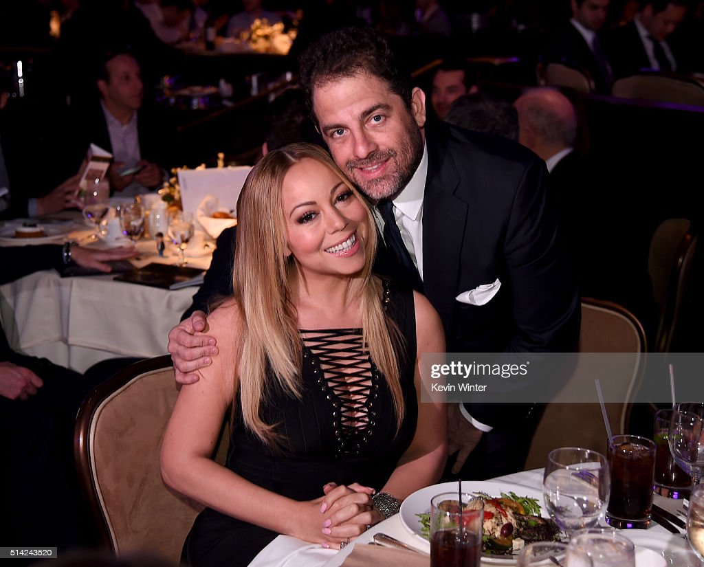 Singer Mariah Carey (L) and honoree Brett Ratner attend the Venice Family Clinic Silver Circle Gala 2016 honoring Brett Ratner and Bill Flumenbaum at The Beverly Hilton Hotel on March 7, 2016 in Beverly Hills, California.