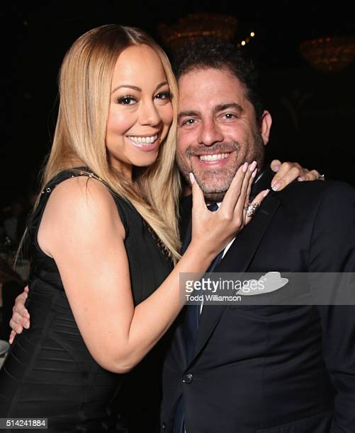 Singer Mariah Carey and honoree Brett Ratner attends the Venice Family Clinic Silver Circle Gala 2016 honoring Brett Ratner and Bill Flumenbaum at...