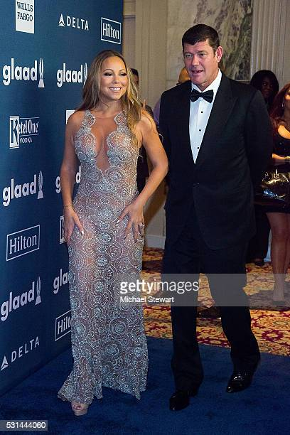 Singer Mariah Carey and James Packer attend the 27th Annual GLAAD Media Awards at The Waldorf=Astoria on May 14 2016 in New York City