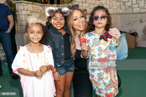 Singer Mariah Carey and Monroe Cannon attend the Moroccan Scott Cannon and Monroe Cannon Party on Mary 13 in Los Angeles California