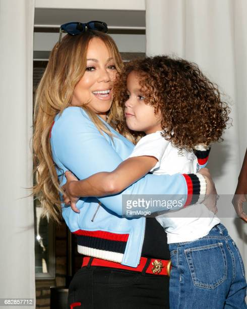 Singer Mariah Carey and Moroccan Scott Cannon attend the Moroccan Scott Cannon and Monroe Cannon Party on Mary 13 in Los Angeles California