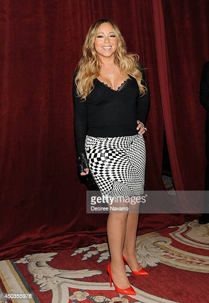 """Singer Mariah Carey announces The Launch Of Her Go N'Syde Bottle """"Butterfly"""" at the Saint Regis Hotel on June 9, 2014 in New York City."""