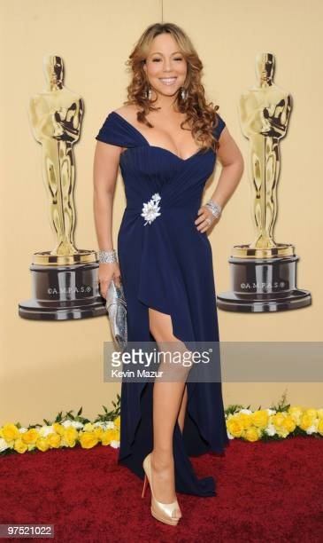 Singer Mariah Carey arrives at the 82nd Annual Academy Awards at the Kodak Theatre on March 7 2010 in Hollywood California