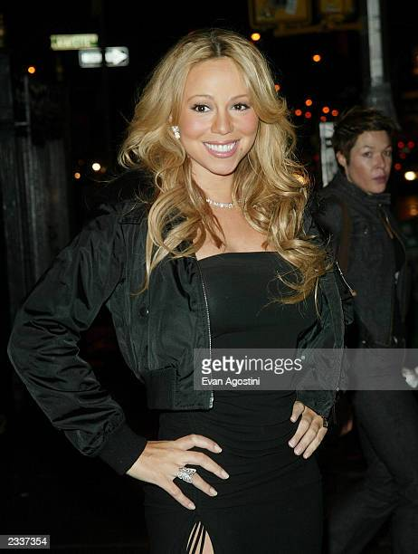 Singer Mariah Carey arrives at the March Of Dimes 6th Annual New York Metro Achievement In Radio Awards at the Puck Building February 10 2003 in New...