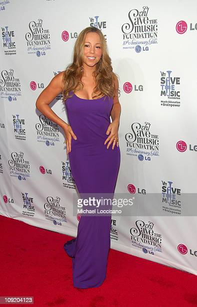 Singer Mariah Carey arrives at VH1's Save The Music 10th Anniversary Gala at The Tent at Lincoln Center on September 20 2007 in New York City