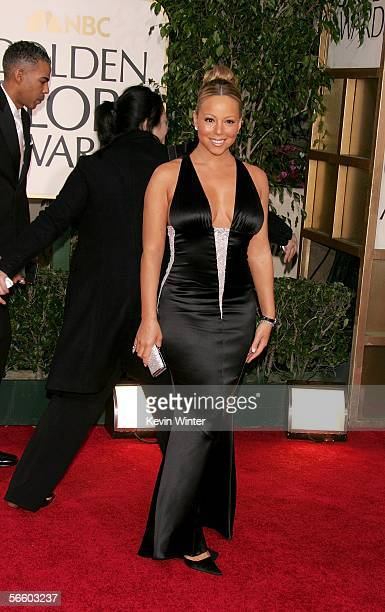 Singer Mariah Carey arrives to the 63rd Annual Golden Globe Awards at the Beverly Hilton on January 16 2006 in Beverly Hills California