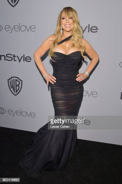 Singer Mariah Carey attends 19th Annual PostGolden Globes Party hosted by Warner Bros Pictures and InStyle at The Beverly Hilton Hotel on January 7...