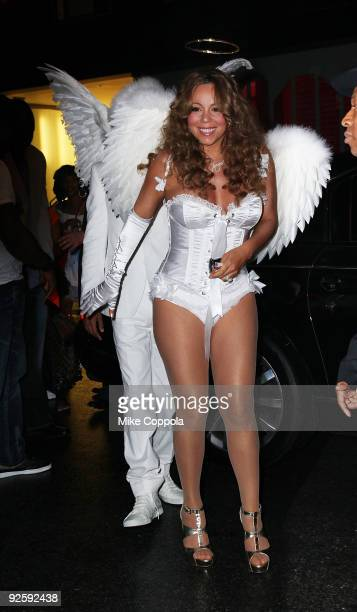 Singer Mariah Carey attends a Halloween celebration at M2 Ultra Lounge on October 31, 2009 in New York City.