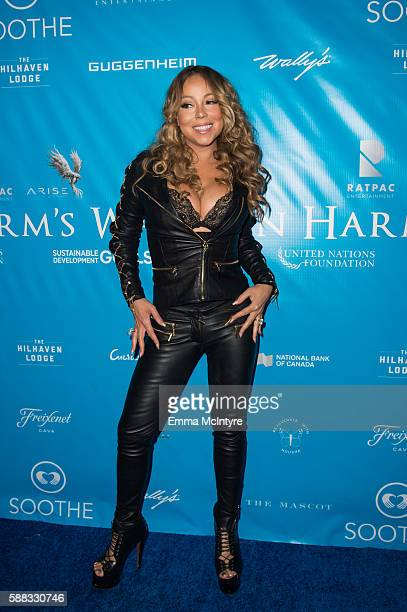 Singer Mariah Carey attends at RatPac Entertainment Hosts Special Event for UN SecretaryGeneral Ban Kimoon at Hillhaven Lodge on August 10 2016 in...