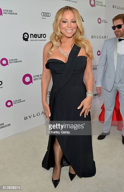 Singer Mariah Carey attends Neuro at the 24th Annual Elton John AIDS Foundation's Oscar Viewing Party at The City of West Hollywood Park on February...