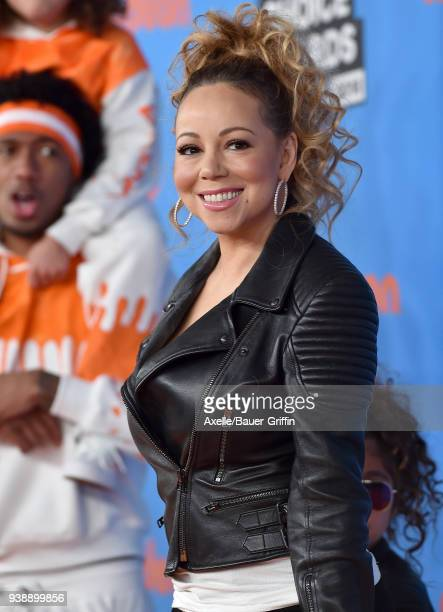 Singer Mariah Carey attends Nickelodeon's 2018 Kids' Choice Awards at The Forum on March 24 2018 in Inglewood California