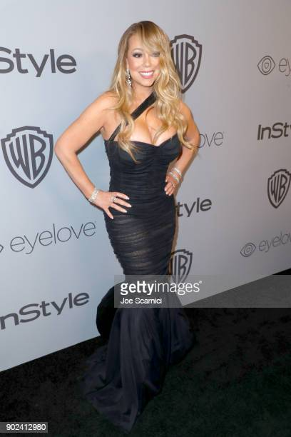 Singer Mariah Carey attends the 2018 InStyle and Warner Bros 75th Annual Golden Globe Awards PostParty at The Beverly Hilton Hotel on January 7 2018...