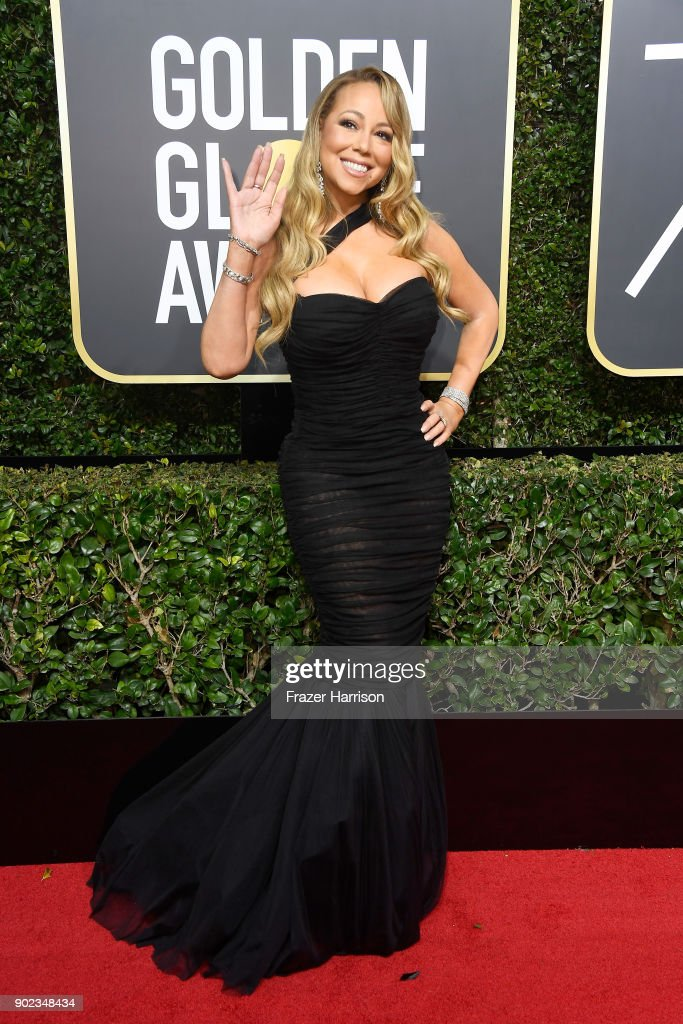 Singer Mariah Carey attends The 75th Annual Golden Globe Awards at The Beverly Hilton Hotel on January 7, 2018 in Beverly Hills, California.