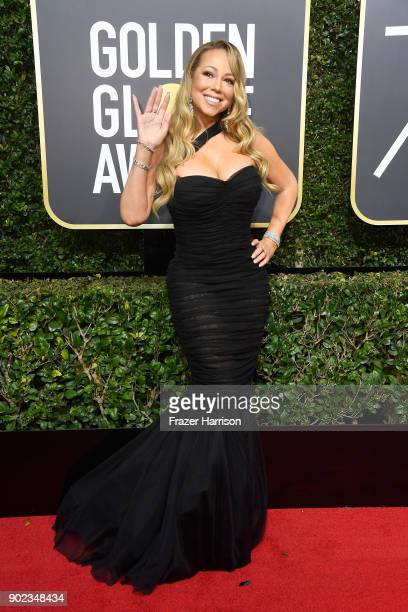 Singer Mariah Carey attends The 75th Annual Golden Globe Awards at The Beverly Hilton Hotel on January 7 2018 in Beverly Hills California
