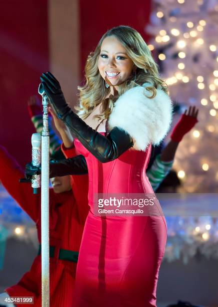 Singer Mariah Carey attends the 81st annual Rockefeller Center Christmas Tree Lighting Ceremony on December 3, 2013 in New York City.