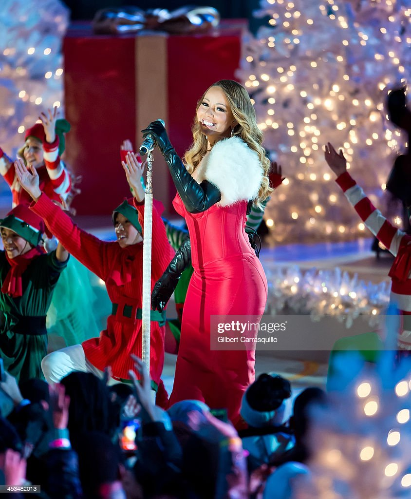 Singer Mariah Carey attends the 81st annual Rockefeller Center Christmas Tree Lighting Ceremony on December 3  sc 1 st  Getty Images & 81st Annual Rockefeller Center Christmas Tree Lighting Ceremony ...