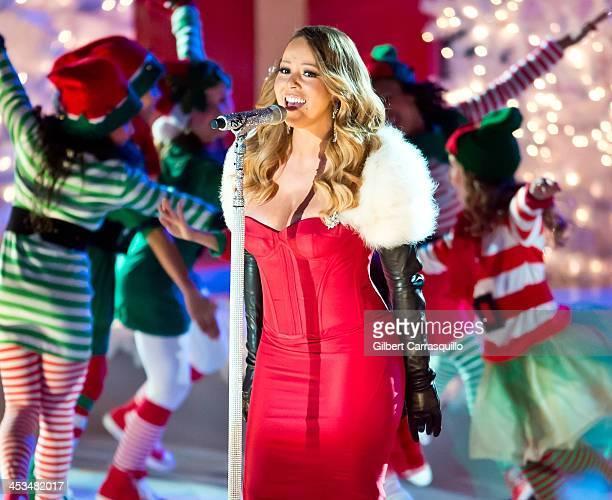 Singer Mariah Carey attends the 81st annual Rockefeller Center Christmas Tree Lighting Ceremony on December 3 2013 in New York City
