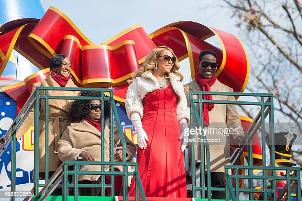 Singer Mariah Carey attends the 89th Annual Macy's Thanksgiving Day Parade on November 26 2015 in New York City