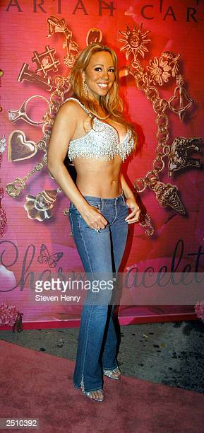 Singer Mariah Carey attends the after party for her Charmbracelet tour at Canal Room September 18 2003 in New York