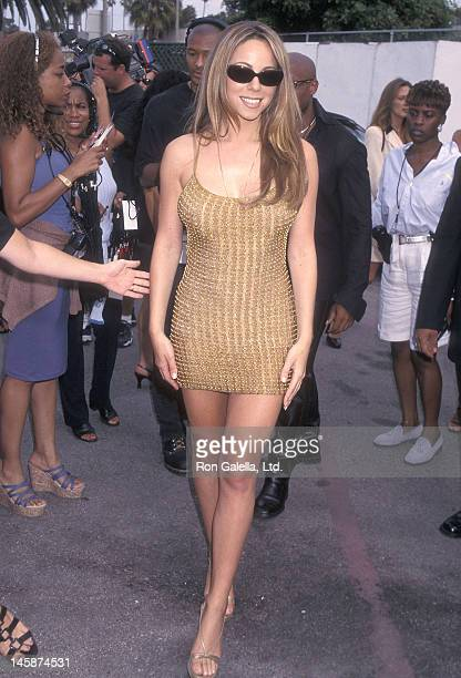 Singer Mariah Carey attends the Fourth Annual Soul Train Lady of Soul Awards on September 3 1998 at the Santa Monica Civic Auditorium in Santa Monica...