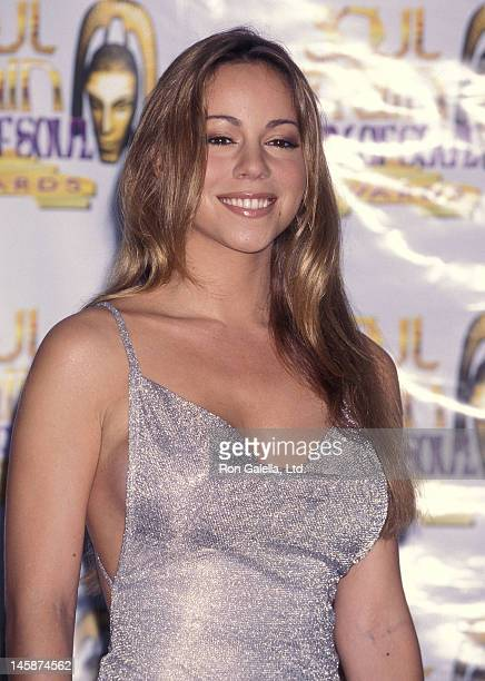 Singer Mariah Carey attends the Fourth Annual Soul Train Lady of Soul Awards on September 3, 1998 at the Santa Monica Civic Auditorium in Santa...