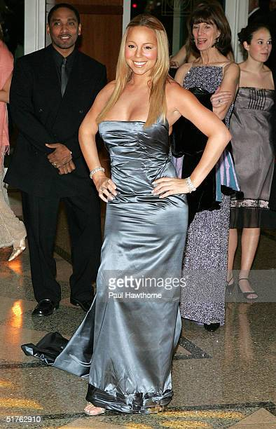 Singer Mariah Carey attends The Fresh Air Fund An Evening In Oz Benefit at Chelsea Piers November 18 2004 in New York City