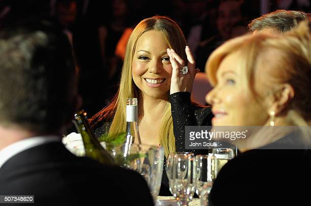 Singer Mariah Carey attends the G'Day USA 2016 Black Tie Gala at Vibiana on January 28 2016 in Los Angeles California