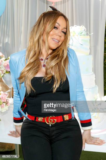 Singer Mariah Carey attends the Moroccan Scott Cannon and Monroe Cannon Party on Mary 13 in Los Angeles California