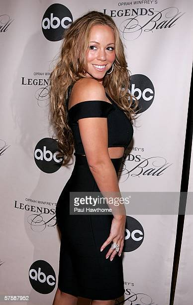 Singer Mariah Carey attends the screening of Oprah Winfrey's Legends Ball at JP Morgan Library May 11 2006 in New York City