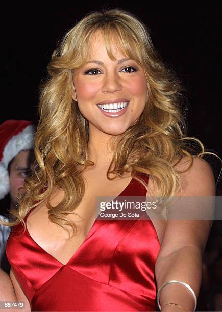 Singer Mariah Carey attends the Z100 Jingle Ball December 13 2001 at Madison Square Garden New York City