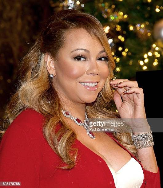 Singer Mariah Carey flips the switch at the Empire State Building's Symbolic Lighting Ceremony to kick off the Holiday Season and to promote the 2016...