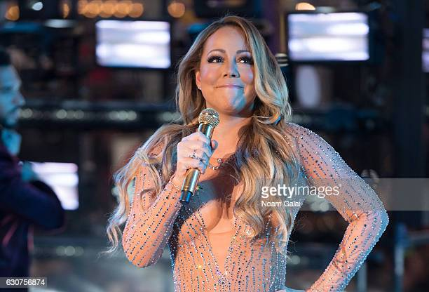Singer Mariah Carey performs during New Year's Eve 2017 in Times Square on December 31 2016 in New York City