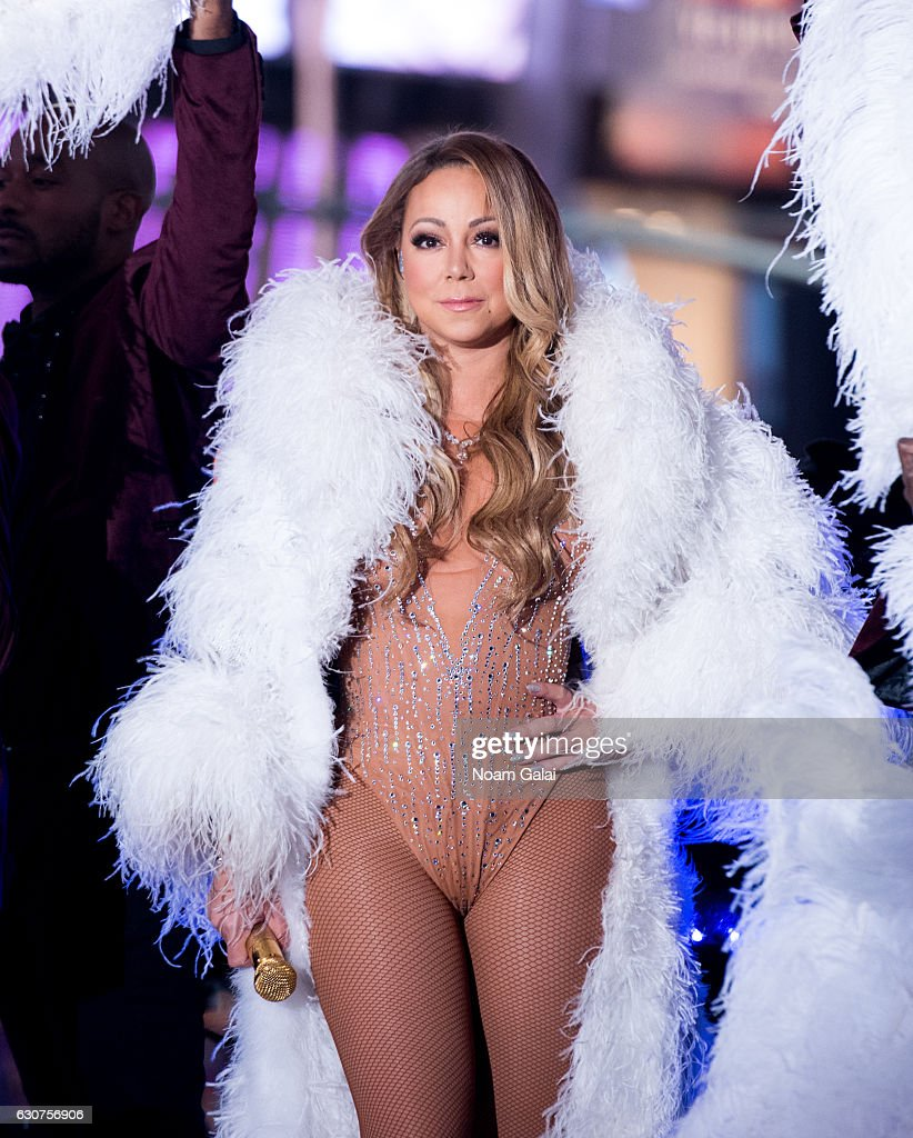 Singer Mariah Carey performs during New Year's Eve 2017 in Times Square on December 31, 2016 in New York City.